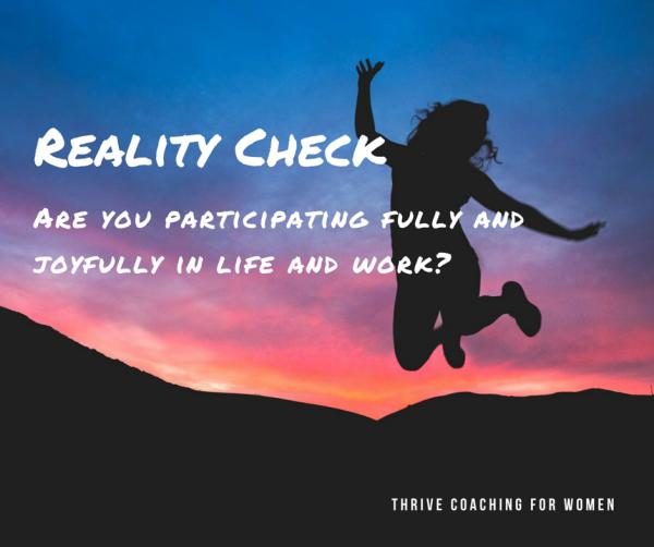 Reality Check Michelle Redfern Blog