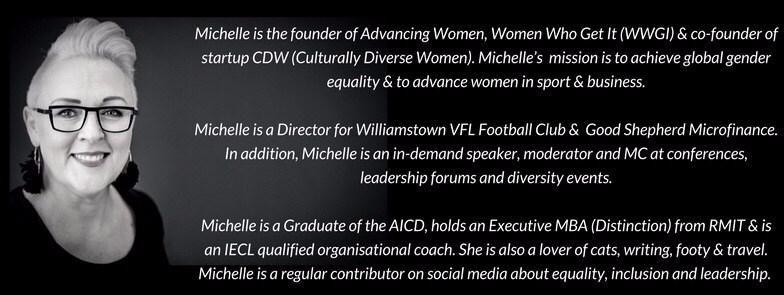 Michelle Redfern Founder Advancing Women brief bio